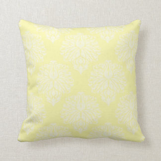 Cream Southern Cottage Damask Throw Pillow