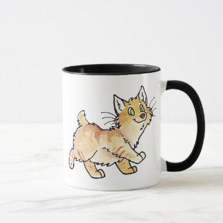 Cream Tabby Manx Kitty Mug