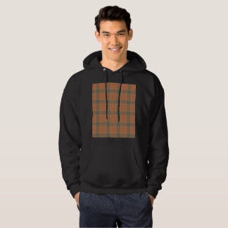 Cream Tartan Men's Basic Hooded Sweatshirt