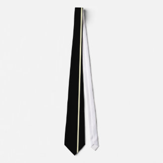 Cream Thin Vertical Line on Black Offset Right Tie