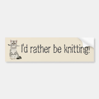 "Cream Tone ""I'd rather be knitting"" 