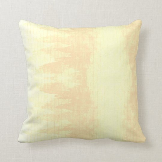 Cream Watercolor Mountain Boho Lines Beige Neutral Throw Pillow