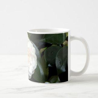 Cream white camellia flower coffee mug