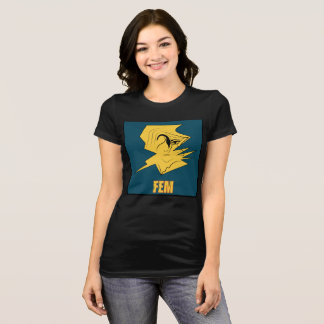 Cream Woman's  FEM #2 Black T-Shirt