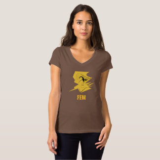Cream Woman's FEM #2 Brown T-Shirt
