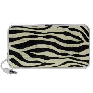 Cream Zebra Stripes Animal Print Laptop Speaker