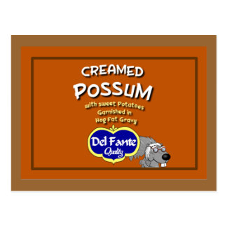Creamed Possum Recipe Card