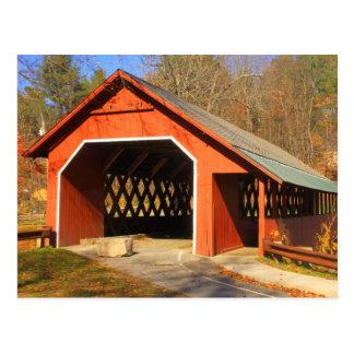 Creamery Covered Bridge Brattleboro Vermont portal Postcard