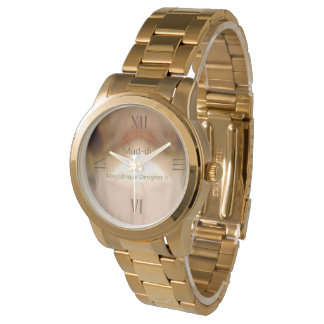 Creaming Brown Roman Numeral Men Style Watch
