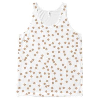 Creamy Beige and White Confetti Dots