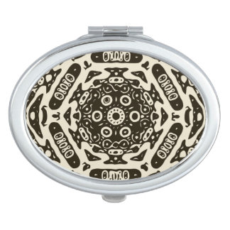 Creamy Brown Aztec Pattern Compact Mirror
