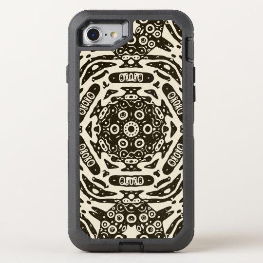 Creamy Brown Aztec Pattern OtterBox Defender iPhone 8/7 Case