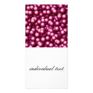 Creamy Bubbles,hot pink Photo Card Template