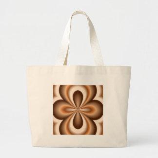 Creamy Caramel Chocolate Pattern Large Tote Bag