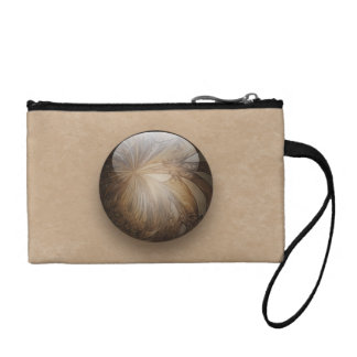 Creamy Coffee Brown Shiny Marble Coin Wallet
