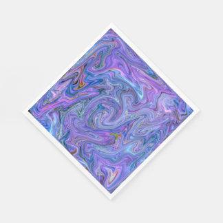 creamy Colors, blue Paper Napkin