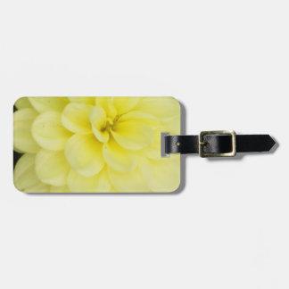 Creamy Dahlia Bag Tag