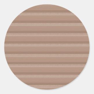 Creamy Groov Pattern  NVN303 FUN DECO shades glow Classic Round Sticker