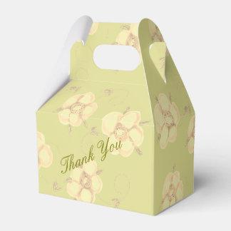 Creamy Light Green Table Favor Favor Box