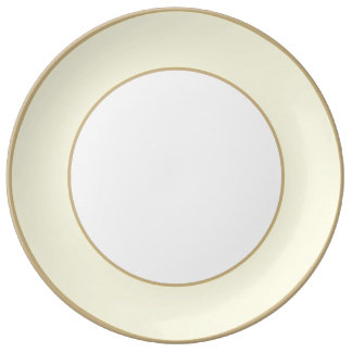 Creamy Pale Pastel Butter Yellow Solid Porcelain Plates