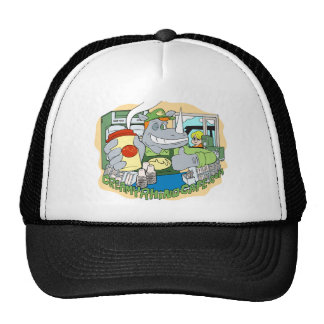Creamy Rhino Cafe Trucker Hat