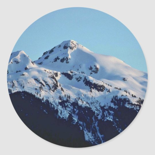 Creamy Snow Classic Round Sticker