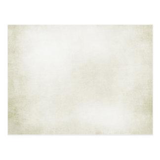 creamy white postcard