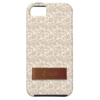 creamy white Rose Floral Patterns iPhone 5 Case