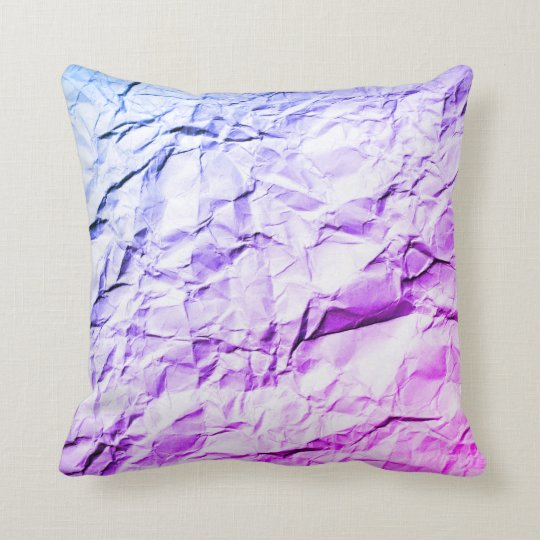 Crease blue purple rainbow crumple cushion pillow