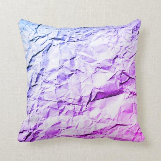 Crease blue purple rainbow crumple cushion pillow