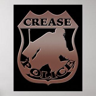 Crease Police Hockey Poster