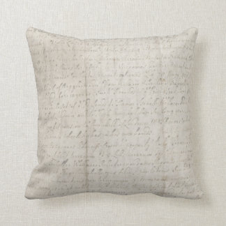 Creased Old Paper with Writing Pillow