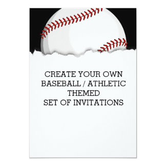 Create a Baseball Themed Invitation