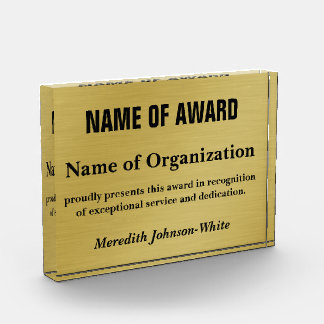 Create a Custom Volunteer Recognition Award (Gold)