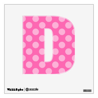 Create a Monochromatic Polka Dot Letter D Wall Decal