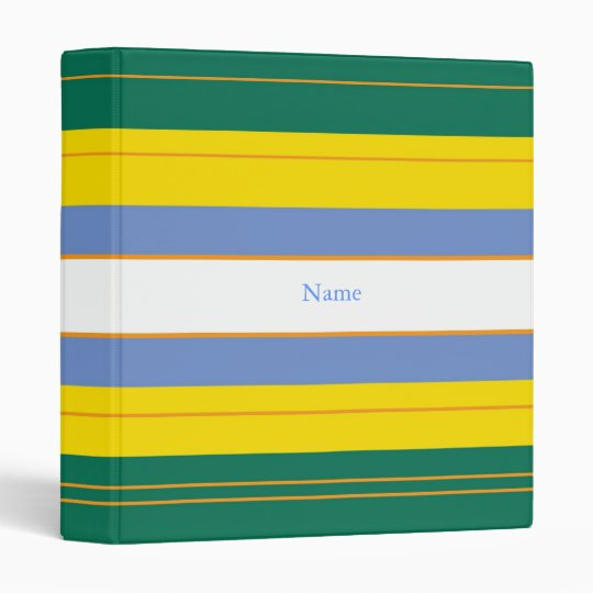 Create-A-Name Classic Stripes 1Binder 3 Ring Binder