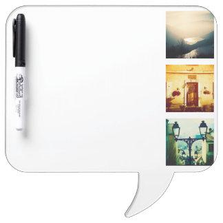 Create a unique and original instagram dry erase boards