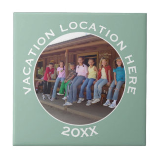 Create A Vacation Souvenir with Photo and Text Tile