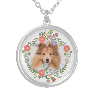Create add your own custom puppy dog cat photo flo silver plated necklace