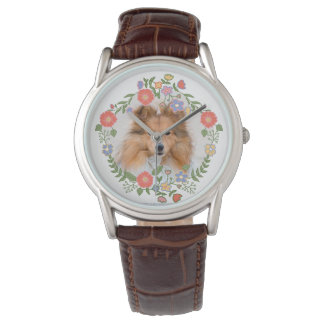 Create add your own custom puppy dog cat photo flo wristwatches