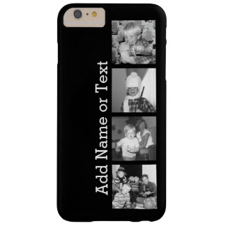 Create an Instagram Collage with 4 photos - black Barely There iPhone 6 Plus Case