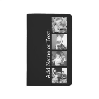 Create an Instagram Collage with 4 photos - black Journal