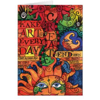 Create Art Every Day Card