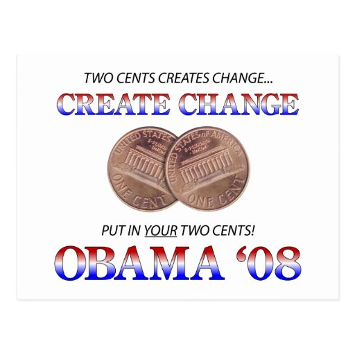 Create Change with Obama Postcards