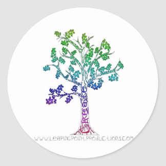 Create Color Tree Lines Round Sticker