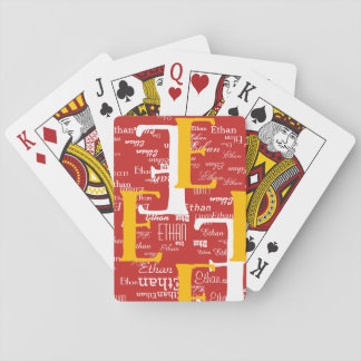create cool playing cards with your name initial