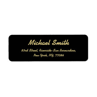 Create Custom Black Golden Elegant Return Address