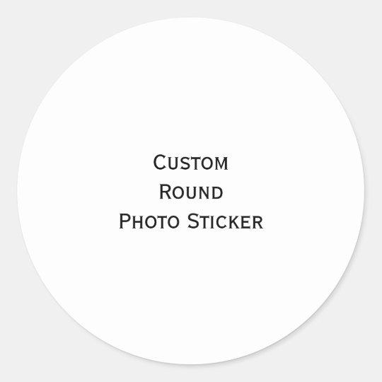 Create Custom Classic Round Photo Stickers Sheet
