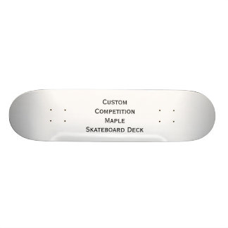 Create Custom Competition Maple Skateboard Deck