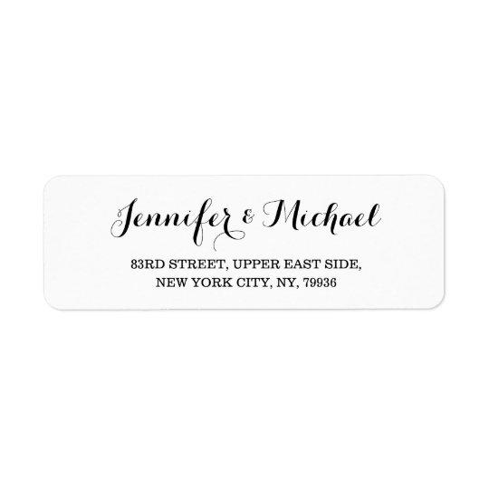 create custom elegant wedding return address label zazzle ca